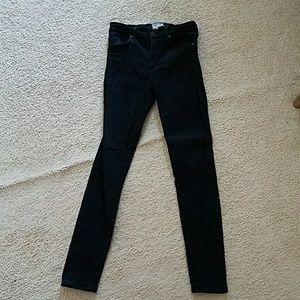 Agolde black super skinny jeans size 28